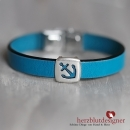 "ARMBAND* ""SAILOR"" maritim mit Anker in petrolblau"